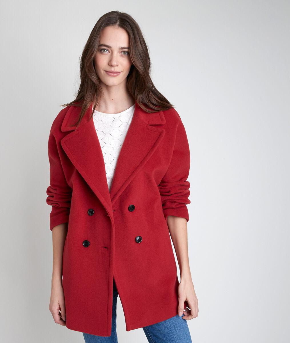 Manteau en laine mélangée tomette Joy PhotoZ   1-2-3