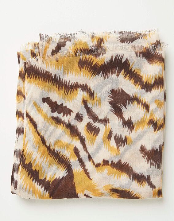 Sjaaltje met karamelkleurige dierenprint Altesse (2) - Maison 123