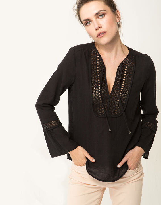 Edelys black cotton blouse PhotoZ | 1-2-3