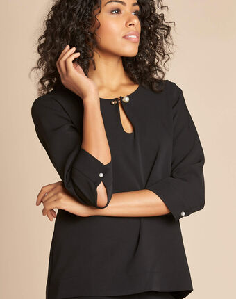 Gerry black blouse with jewel detail black.