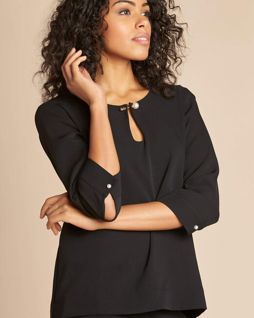 Gerry black blouse with jewel detail (1) - 1-2-3