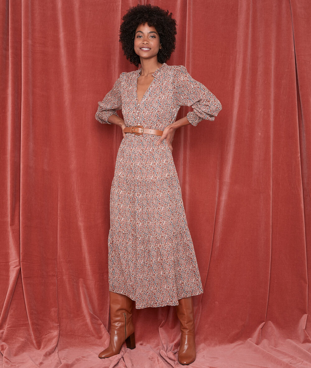 Robe Longue Imprimee Nada Femme Maison 123