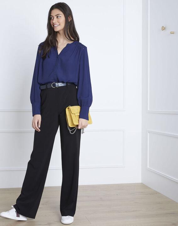 Marineblauwe soepele blouse Valda PhotoZ | 1-2-3
