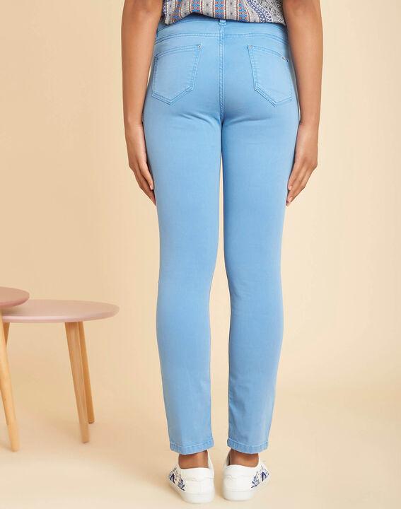 Blauwe verwassen slim fit jeans met normale taille Vendôme (4) - 37653