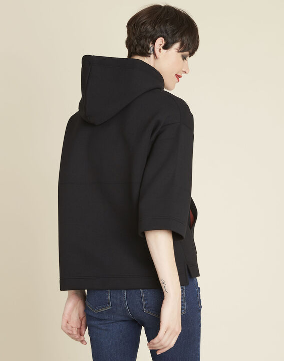 Grale black hooded sweatshirt with jewelled lacing (4) - 1-2-3