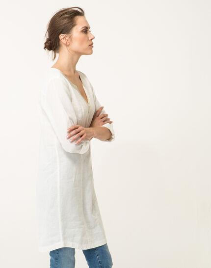 Ecrufarbenes Leinenkleid Blanche (3) - 1-2-3