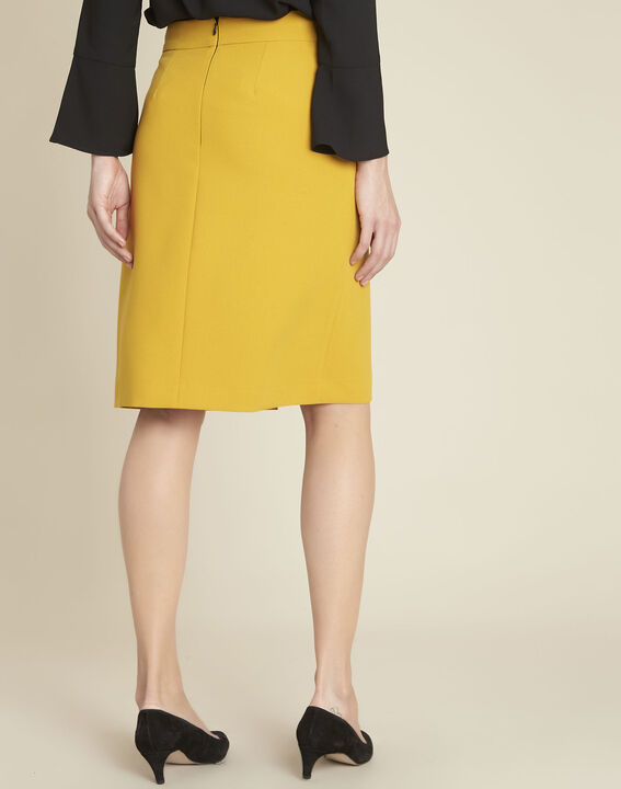 Agathe yellow skirt with knot and slit (4) - 1-2-3