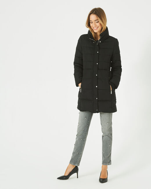 Lise mid-length black puffer jacket (1) - 1-2-3