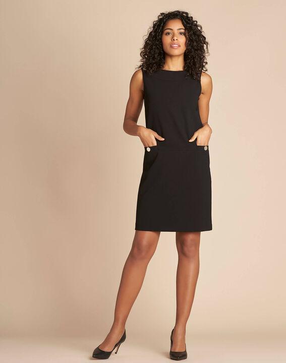 Robe droite noire sans manches Prisca (2) - 1-2-3