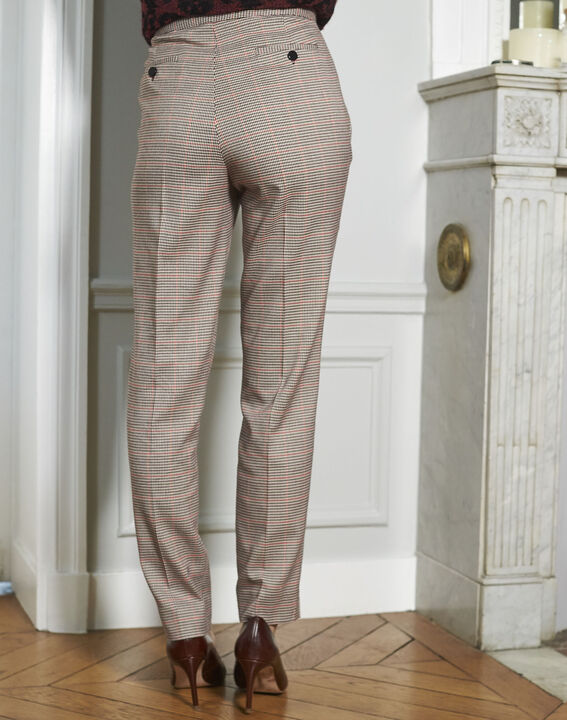 Harry red checked cigarette-cut trousers (4) - 1-2-3