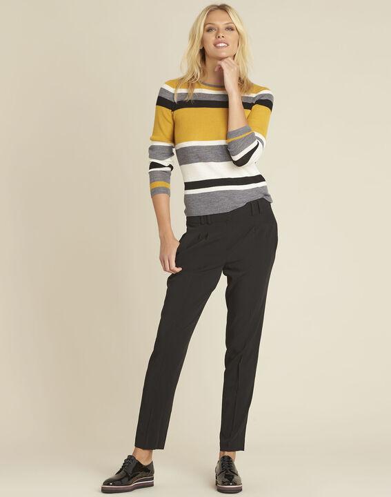 Fleurette black dart trousers with cigarette cut (2) - 1-2-3