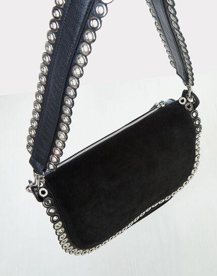 Ryme black leather bag with eyelets (3) - 1-2-3