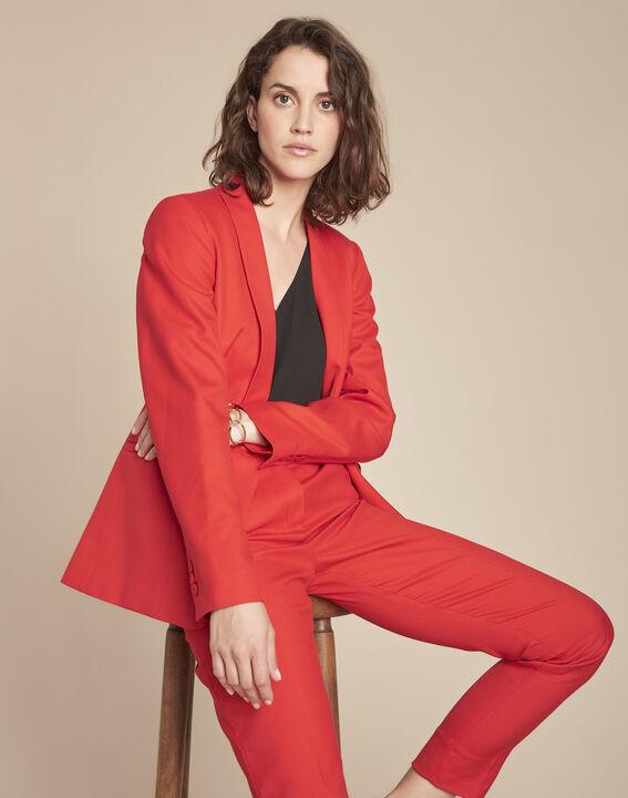 Veste rouge col tailleur Bianca PhotoZ | 1-2-3