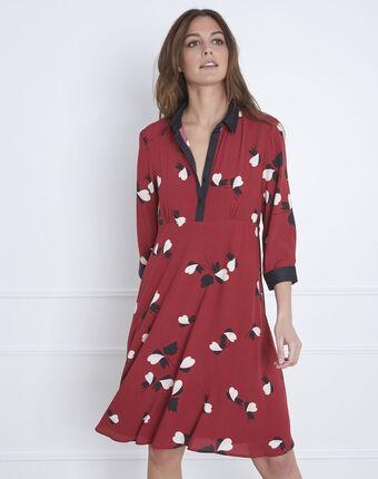 Rotes kleid mit printmuster lamour granatapfel.