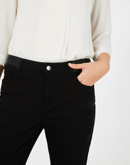 Schwarze 7/8-Jeans mit Phönix-Stickerei Nala (3) - 1-2-3