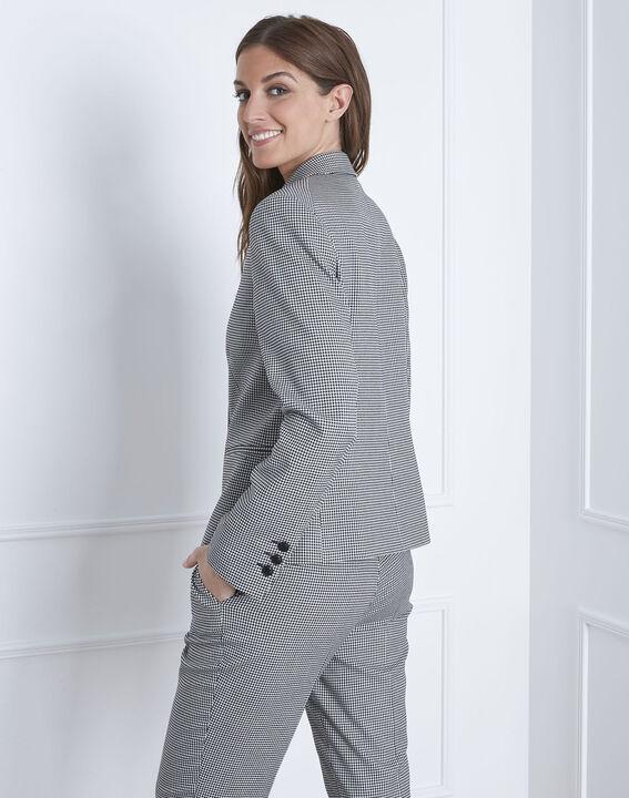 Taillierte Jacke mit Vichy-Print Fiona (4) - Maison 123