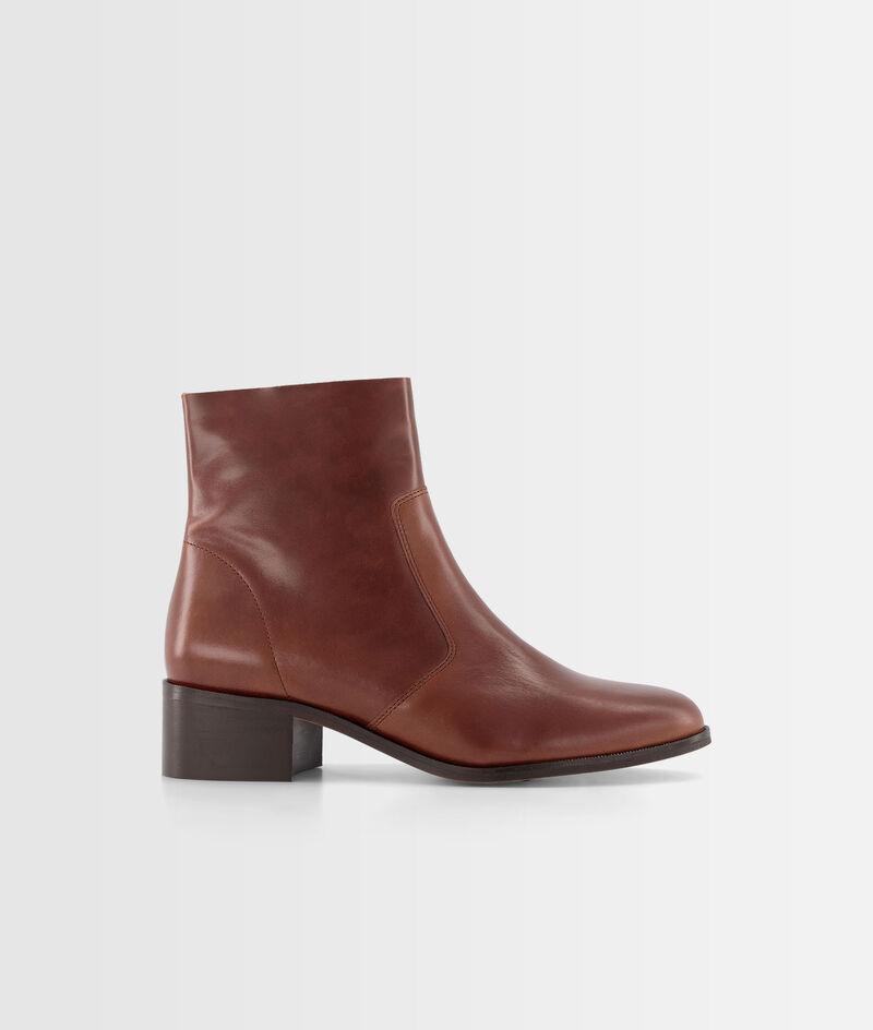 Boots courtes en cuir marron Harmony PhotoZ   1-2-3