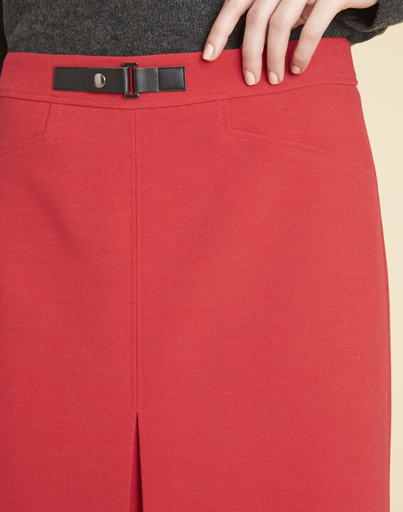 Angel tight red skirt with buckle (3) - 1-2-3