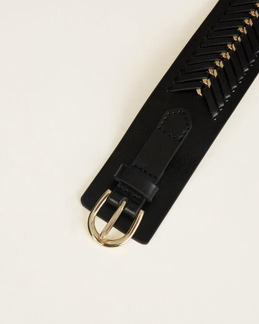 Oriana wide black leather belt (1) - 1-2-3