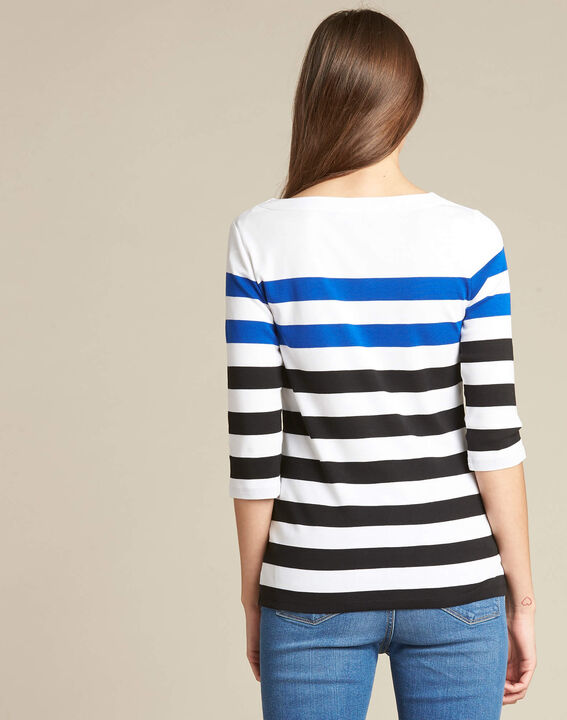 Eguemarine striped T-shirt with 3/4 length sleeves (4) - 1-2-3