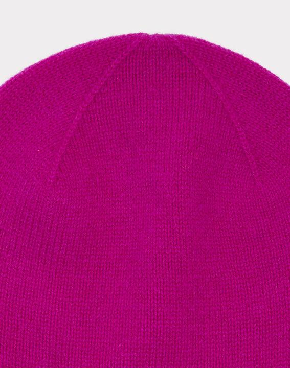Bonnet fuchsia en cachemire Tilleul (2) - 1-2-3