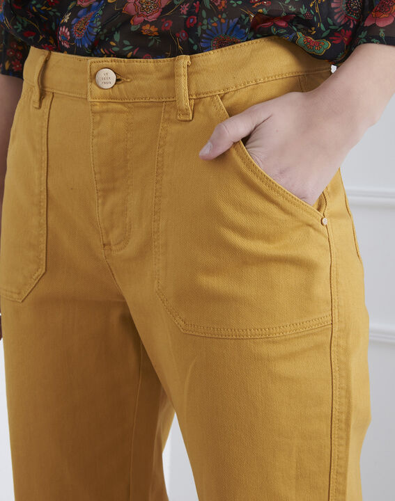 Jean jaune boyfriend 7/8e Coconut (3) - Maison 123