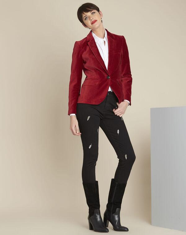 Silvana red velvet jacket (1) - 1-2-3