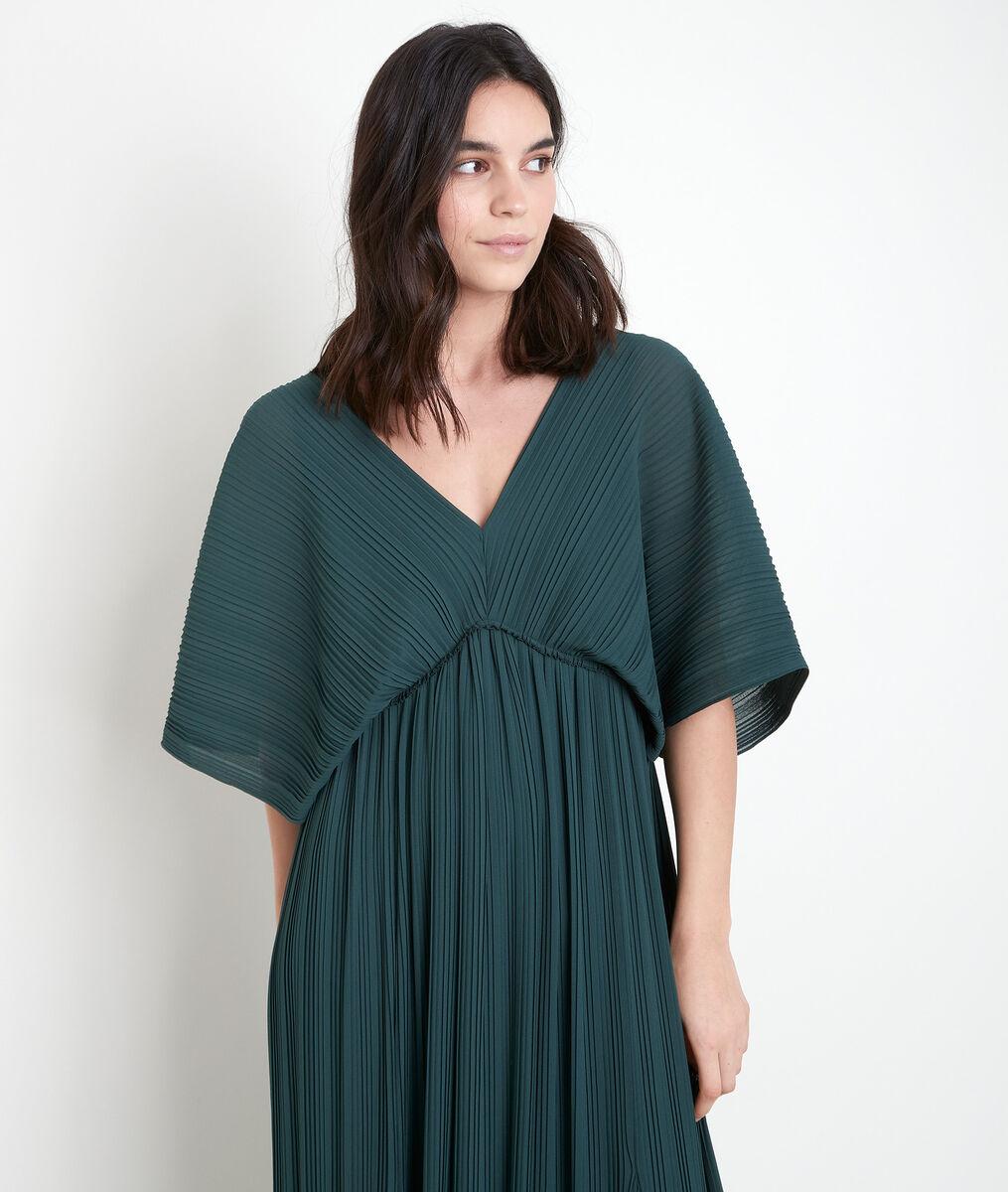 Robe longue plissée cyprès Marion PhotoZ | 1-2-3