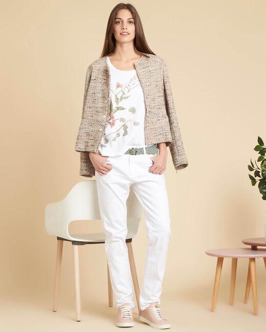 Tee-shirt blanc à motifs fleuris Eloi (1) - 1-2-3