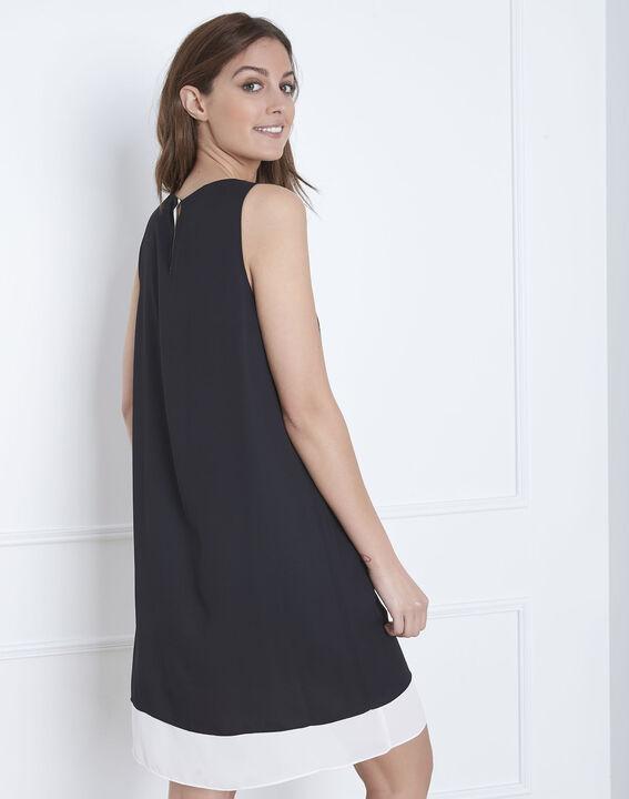 Schwarz-weißes Kleid mit goldenen Details Isola (4) - 1-2-3