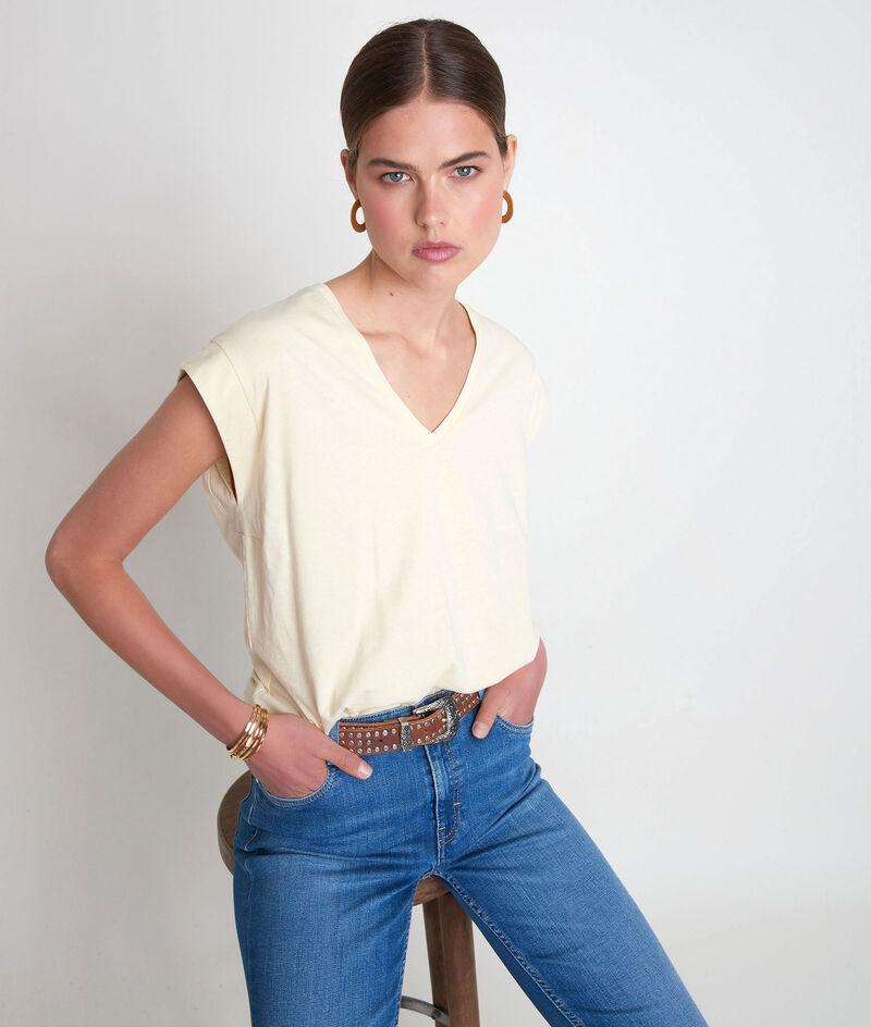 Tee-shirt en coton biologique paille Ideal PhotoZ | 1-2-3