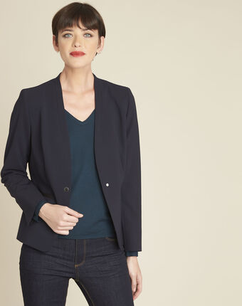 Majeste navy microfibre jacket navy.