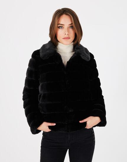 Laura black faux fur reversible jacket (3) - 1-2-3