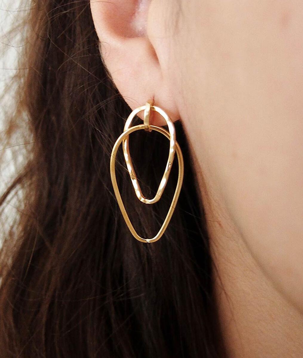 Boucle d'oreilles double pendante Bijoux Léone PhotoZ | 1-2-3