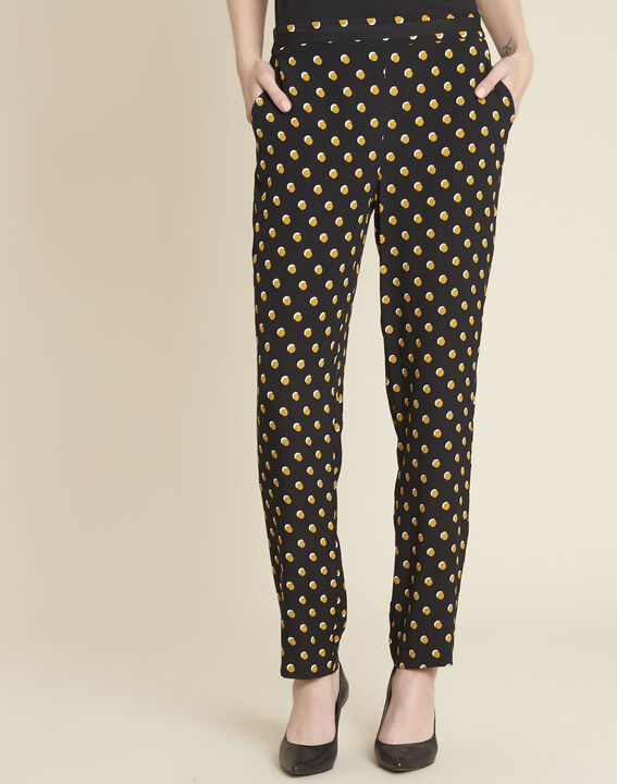 Hypso black trousers with yellow polka dots PhotoZ | 1-2-3