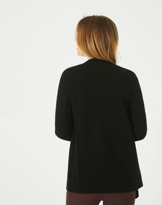 Primevère black cashmere waterfall cardigan (4) - 1-2-3