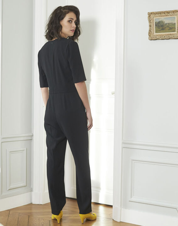 5468d4db857 Drama Loose-fitting Black Jumpsuit - Maison Cent Vingt-Trois