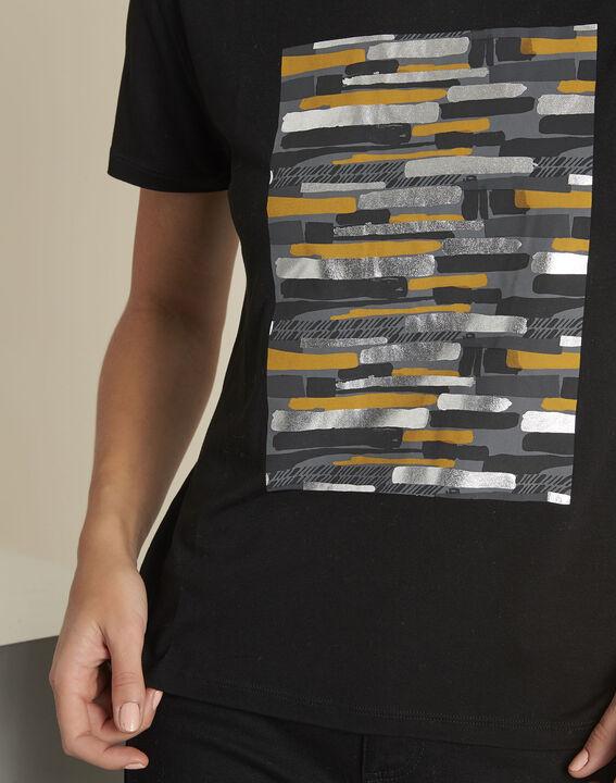 Tee-shirt noir imprimé Gartiste (3) - 1-2-3