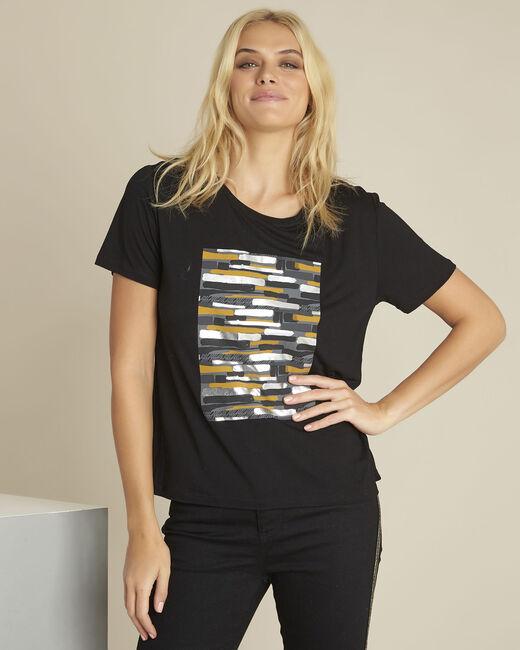Tee-shirt noir imprimé Gartiste (2) - 1-2-3