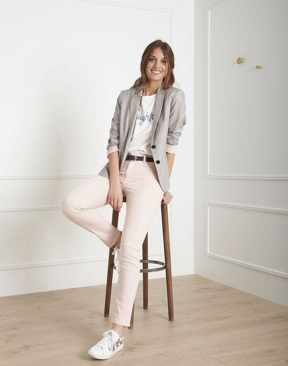 Jeans in hellem Pink aus Baumwollsatin im Slim-Schnitt Vendome (2) - Maison 123