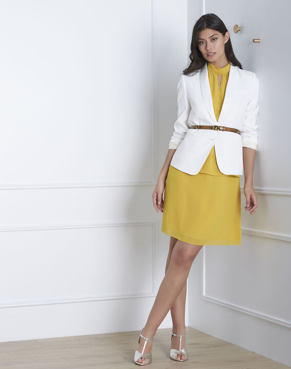 Robe jaune col montant Heloise (2) - Maison 123