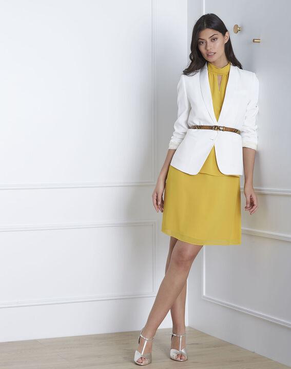 Robe jaune col montant Heloise (2) - Maison 123