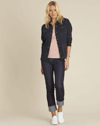 Veste en jean poches plaquées en coton smile marineblau.
