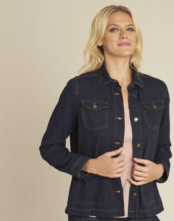 Veste en jean poches plaquées en coton Smile PhotoZ | 1-2-3