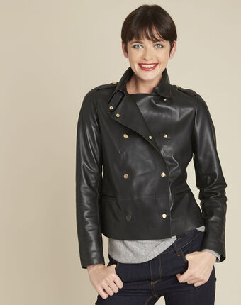 Samanta black lambskin perfecto biker jacket black.