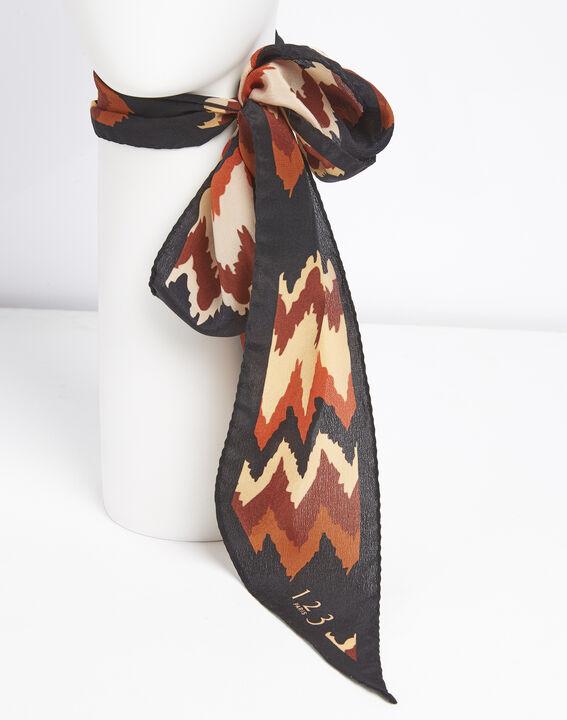 Fanette bohemian print silk tie belt (3) - 1-2-3