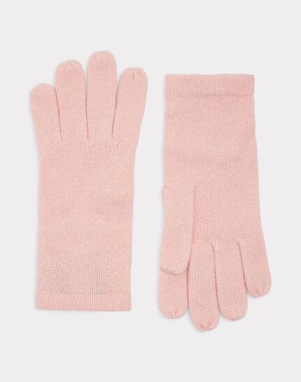 Blassrosa Kaschmir-Handschuhe Tulipe (1) - 1-2-3