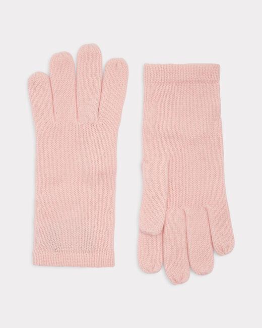Blassrosa Kaschmir-Handschuhe Tulipe (2) - 1-2-3