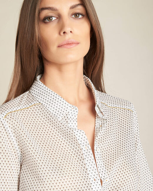Ravel ecru cotton printed shirt (2) - 1-2-3