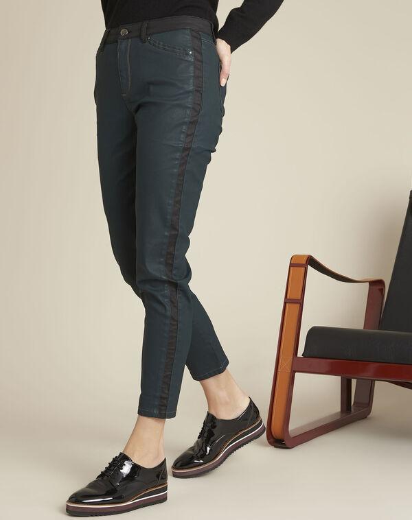 Groene jeans met zwarte stroken (1) - 37653